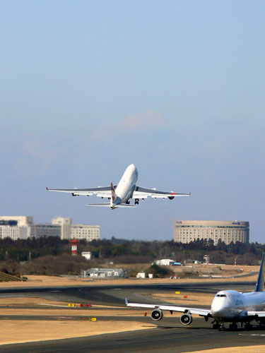 JAL take-off